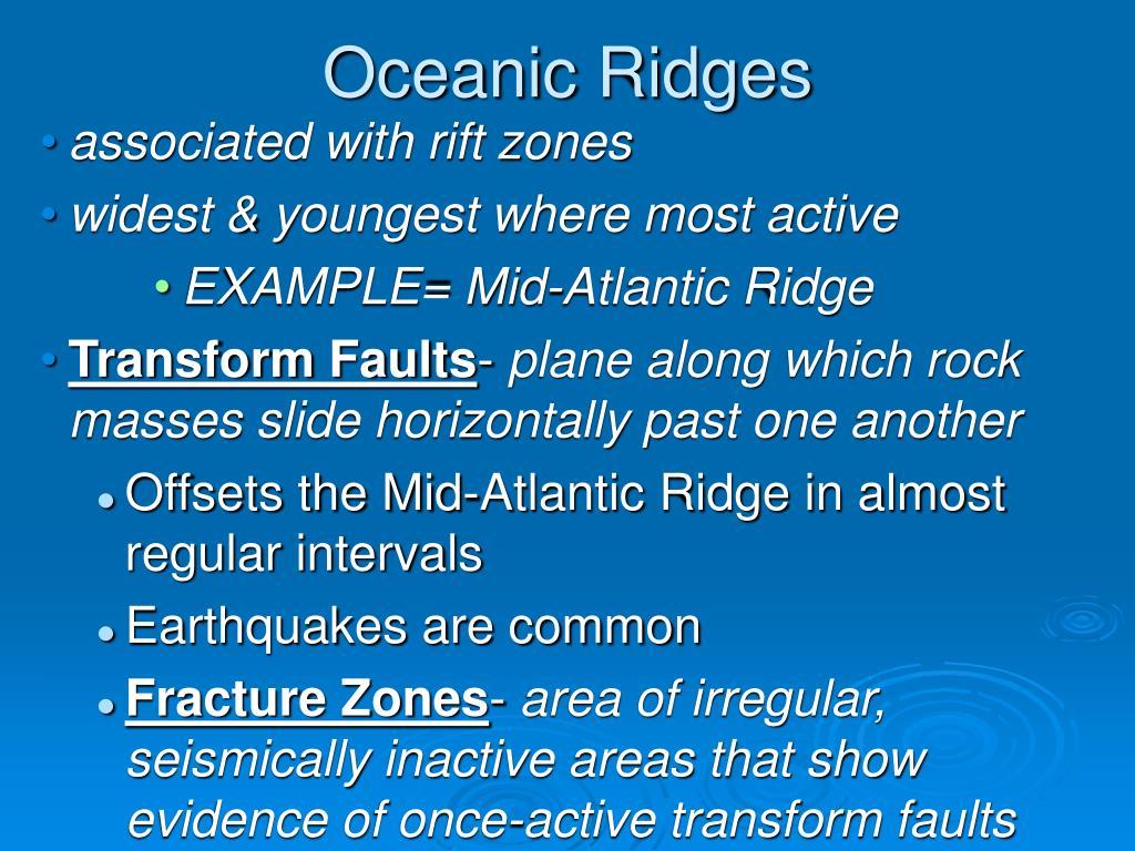 Oceanic Ridges