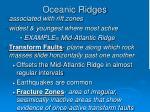oceanic ridges21