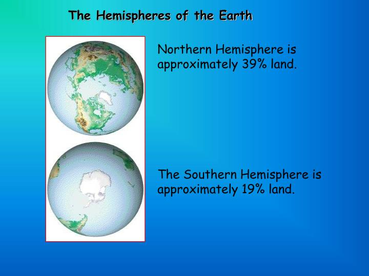 The Hemispheres of the Earth