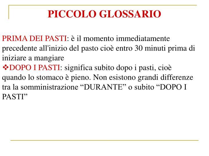 PICCOLO GLOSSARIO