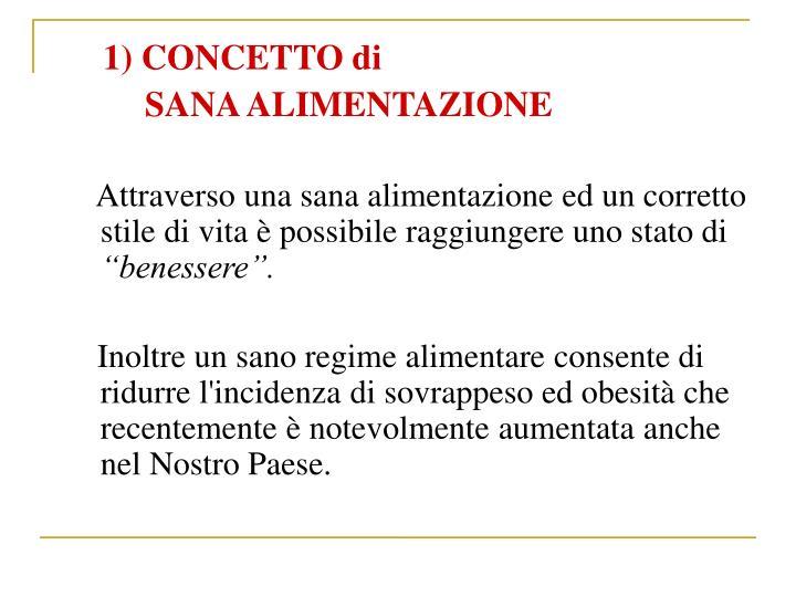 1) CONCETTO di