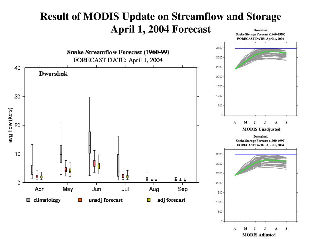 Result of MODIS Update on Streamflow and Storage