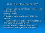 what are black smokers