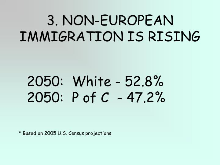 3. NON-EUROPEAN IMMIGRATION IS RISING