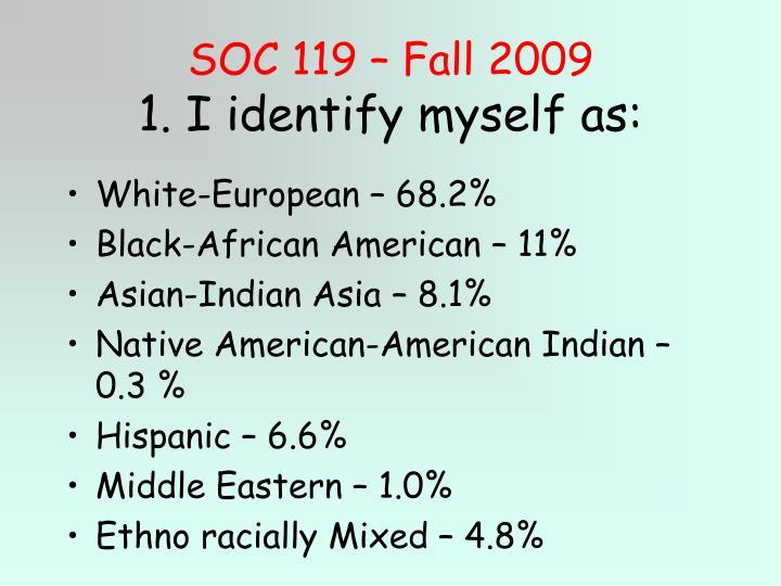SOC 119 – Fall 2009
