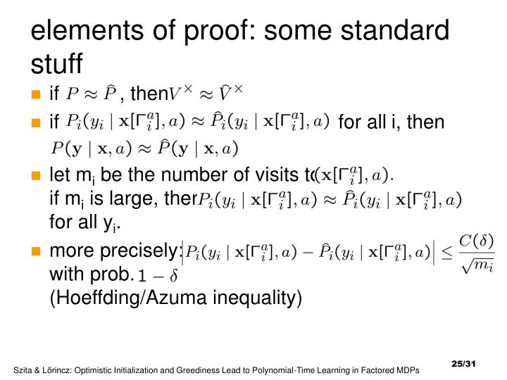 elements of proof: some standard stuff