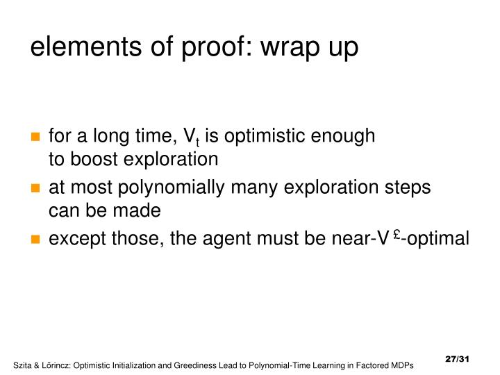 elements of proof: wrap up