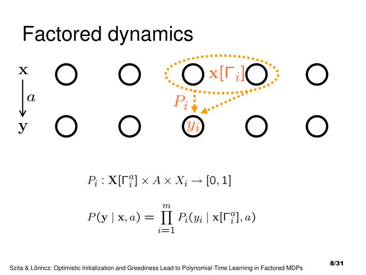 Factored dynamics