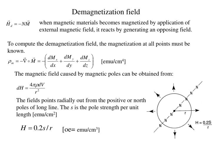 Demagnetization field
