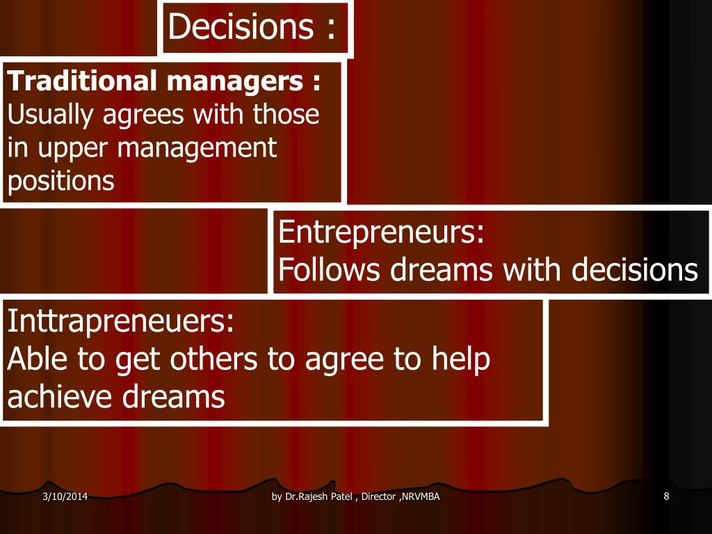 Decisions :
