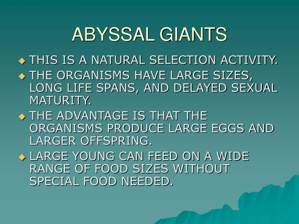 ABYSSAL GIANTS