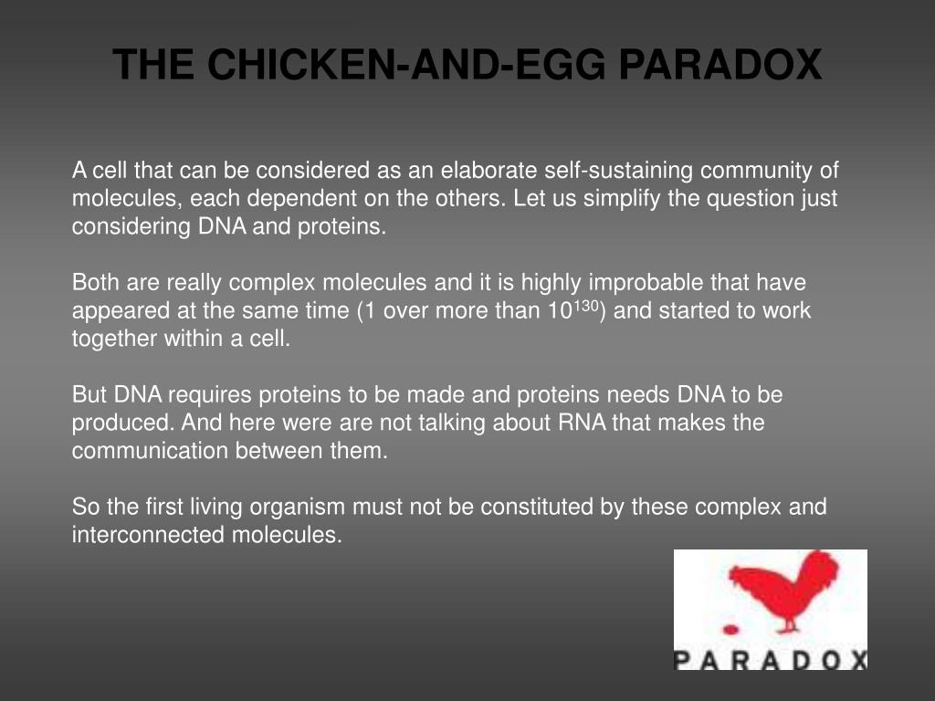 THE CHICKEN-AND-EGG PARADOX