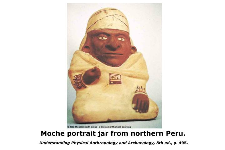 Moche portrait jar from northern Peru.