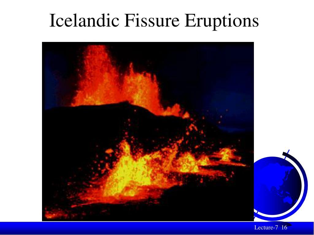 Icelandic Fissure Eruptions
