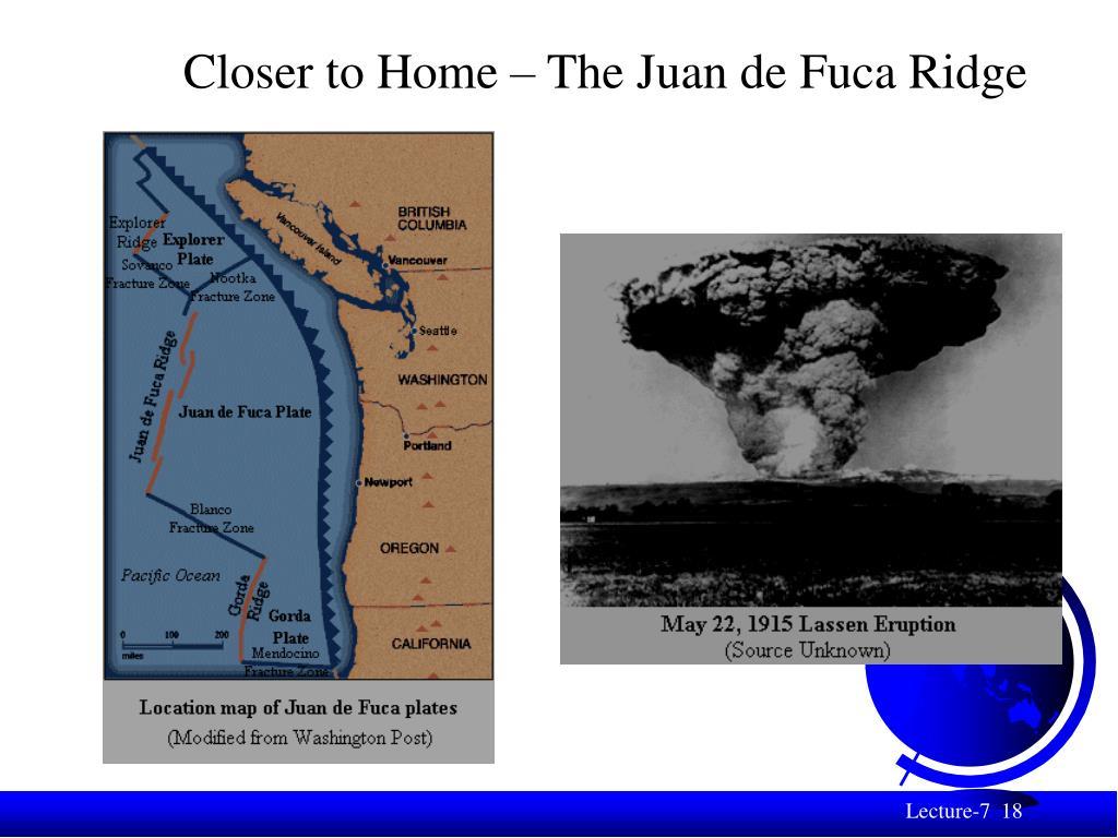 Closer to Home – The Juan de Fuca Ridge
