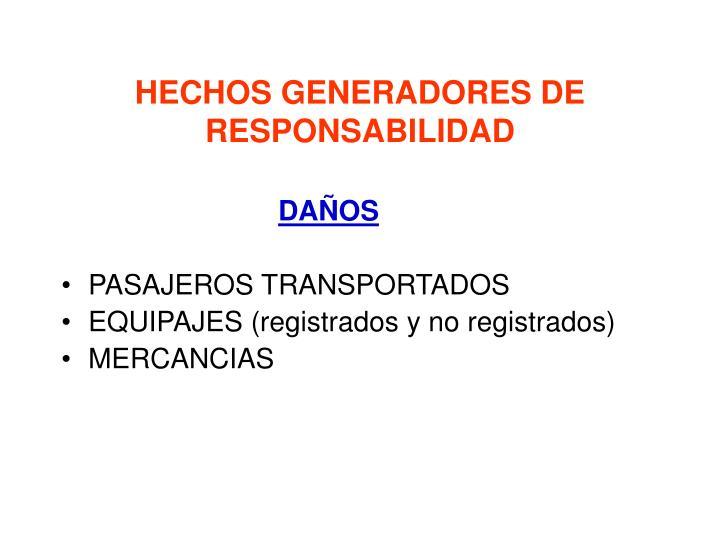 HECHOS GENERADORES DE RESPONSABILIDAD