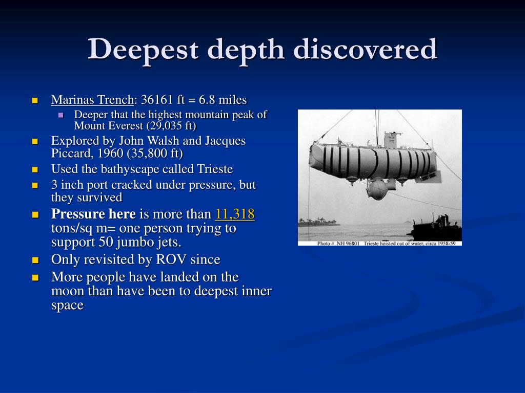 Deepest depth discovered