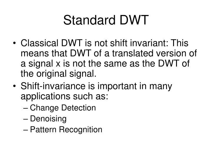 Standard DWT