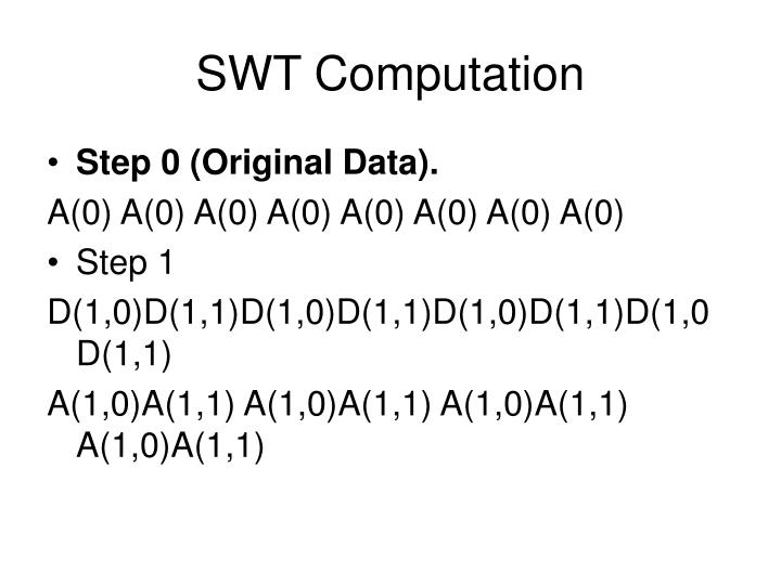 SWT Computation