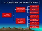 c klasifikasi tujuan pendidikan