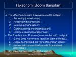 taksonomi boom lanjutan