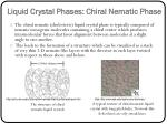 liquid crystal phases chiral nematic phase
