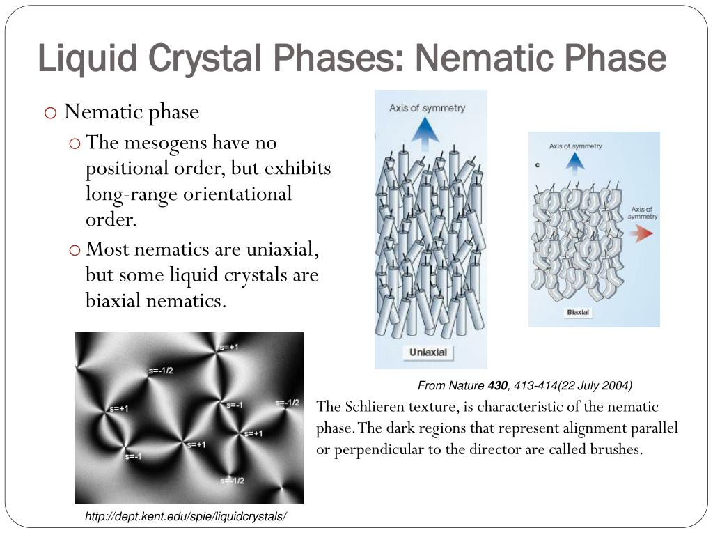 Liquid Crystal Phases: Nematic Phase