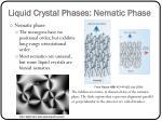 liquid crystal phases nematic phase