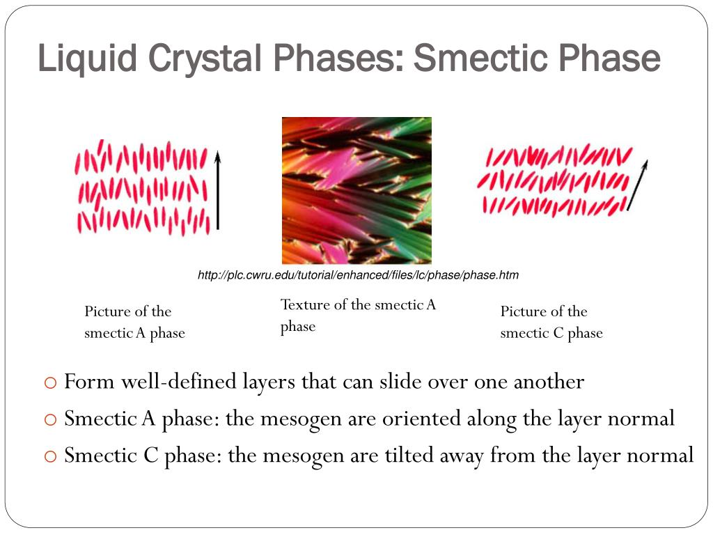 Liquid Crystal Phases: Smectic Phase