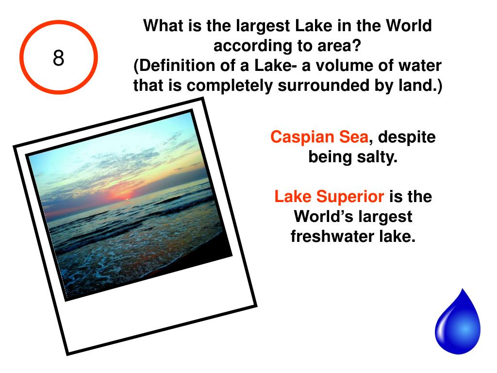 What is the largest Lake in the World according to area?
