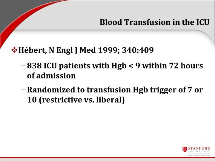 Blood Transfusion in the ICU