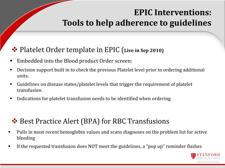 EPIC Interventions: