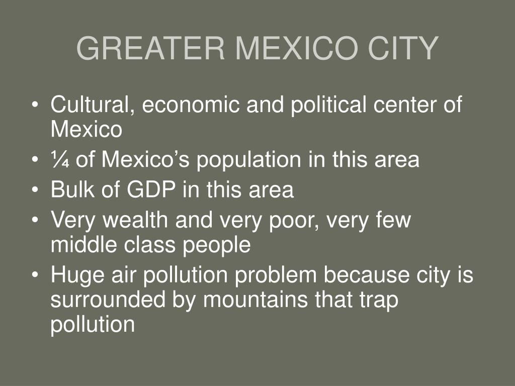 GREATER MEXICO CITY