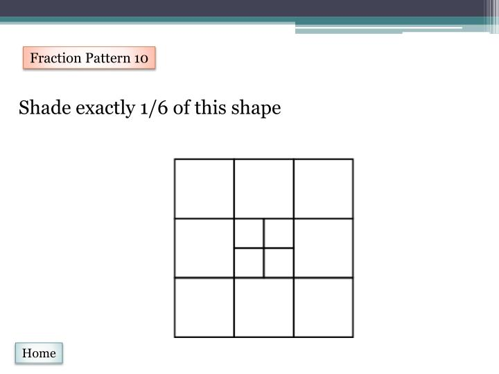 Fraction Pattern 10