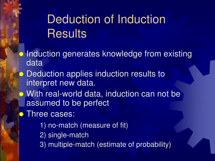 Deduction of Induction Results