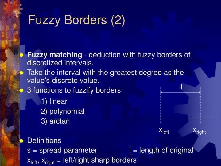 Fuzzy Borders (2)
