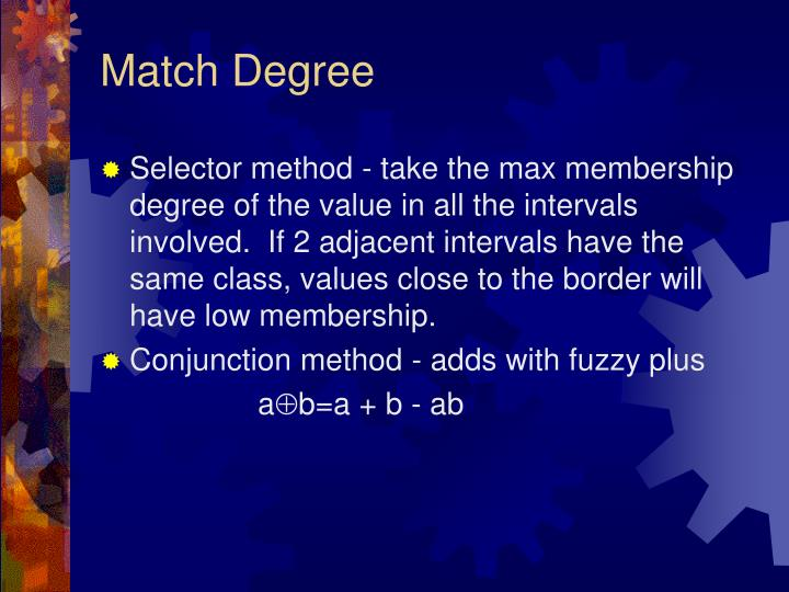 Match Degree