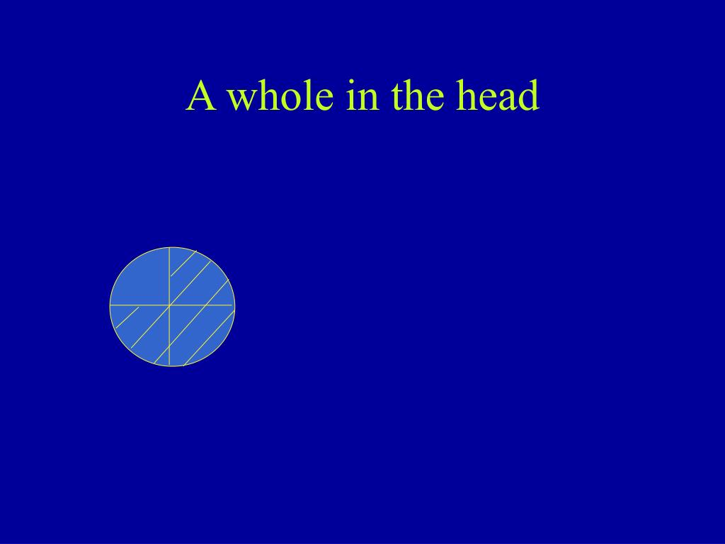 A whole in the head