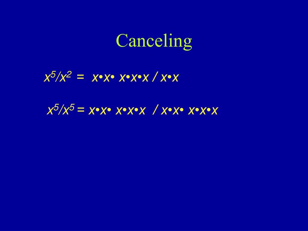 Canceling