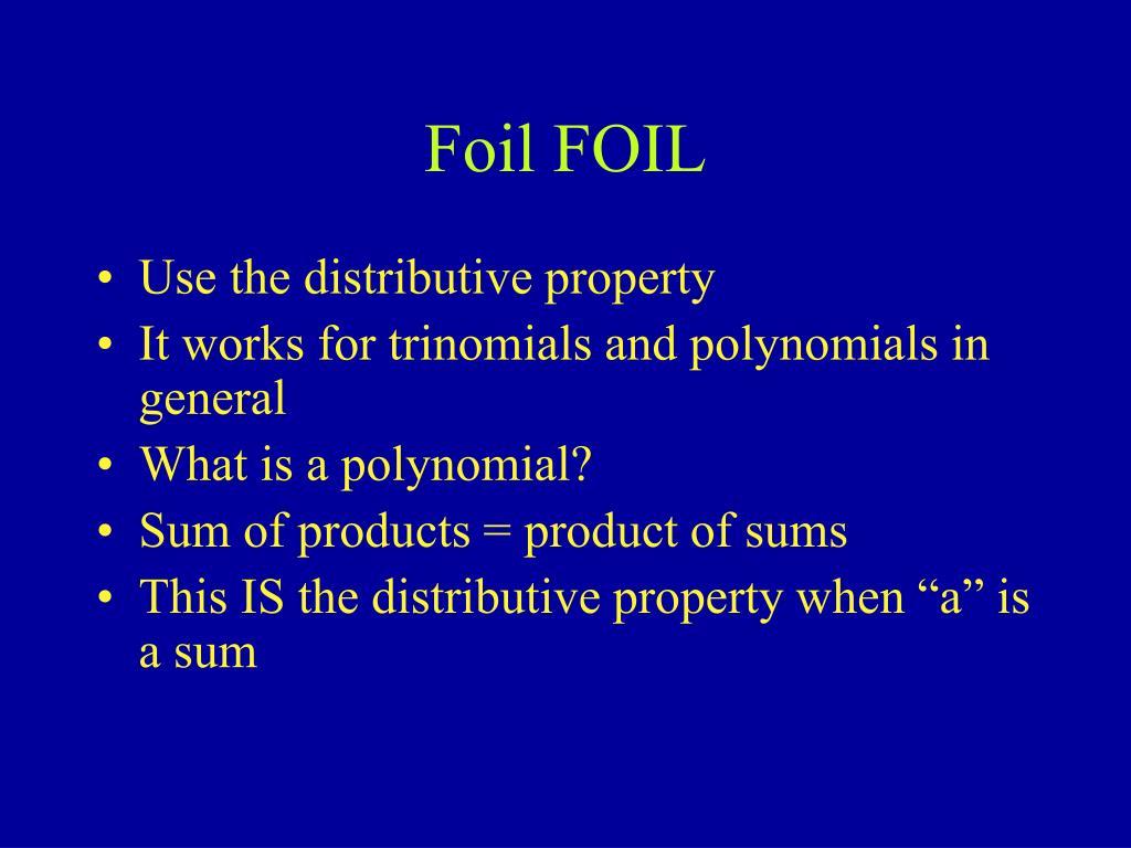 Foil FOIL