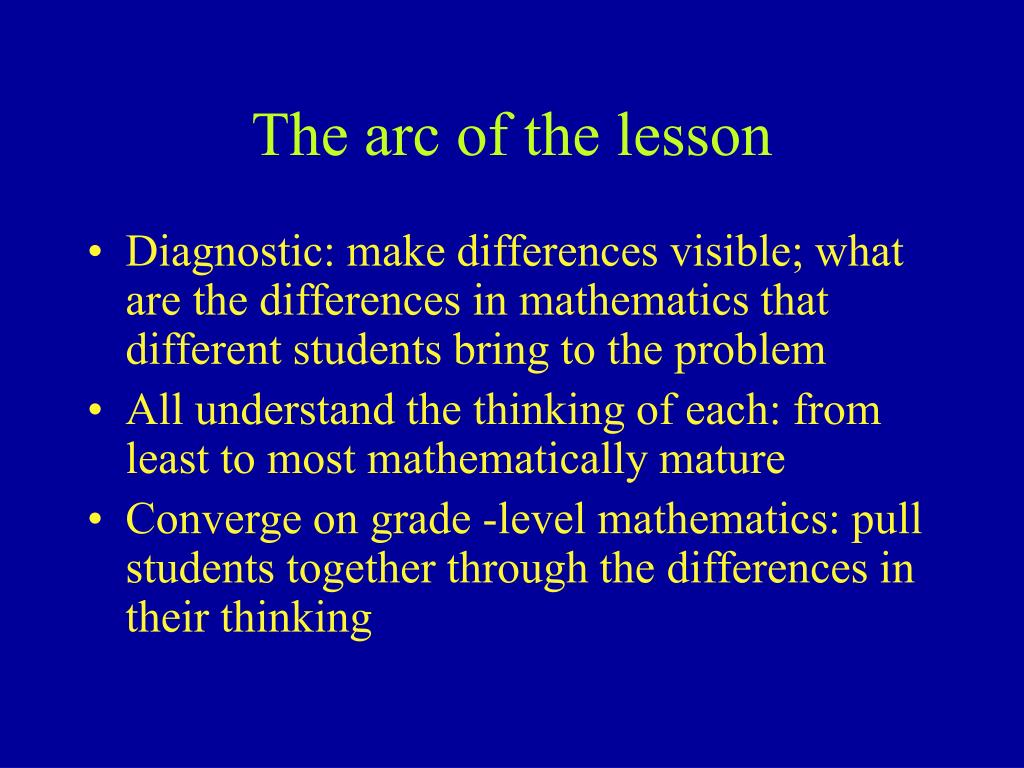 The arc of the lesson