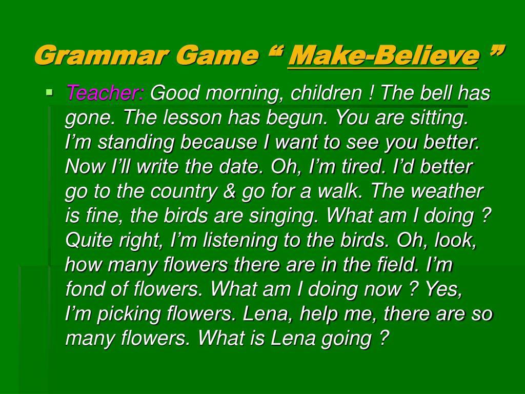 """Grammar Game """""""