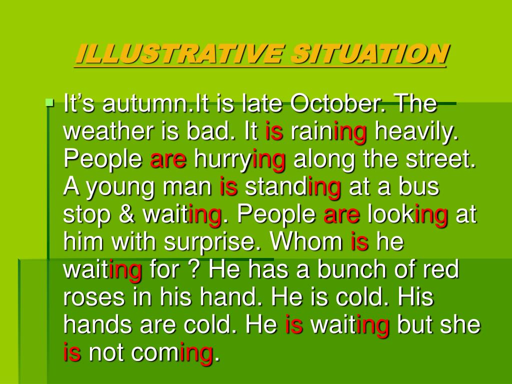ILLUSTRATIVE SITUATION