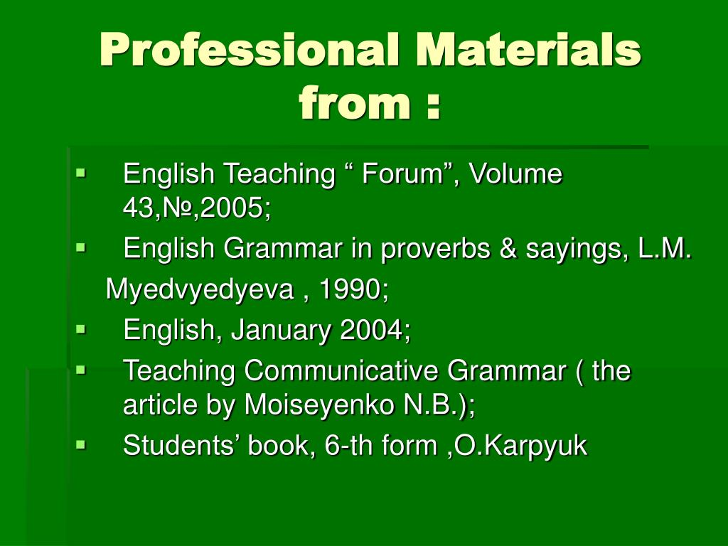 Professional Materials from :