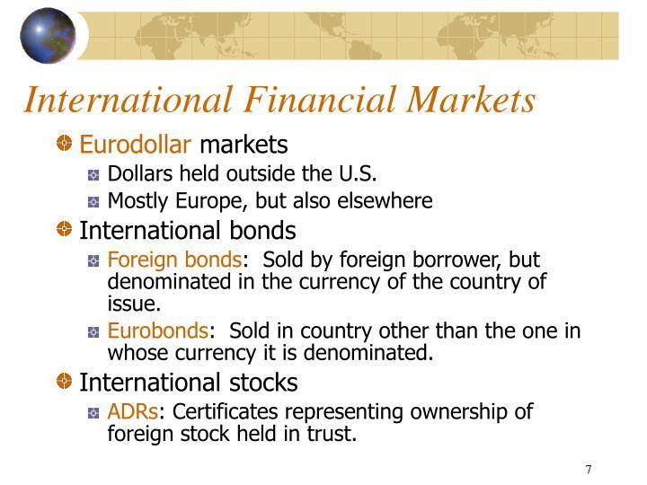 International market rates