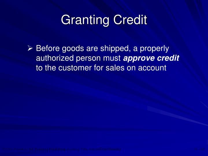 Granting Credit