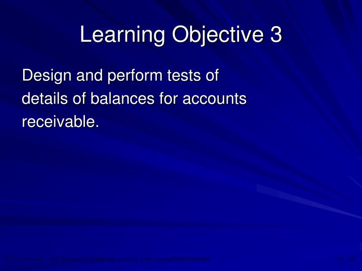 Learning Objective 3