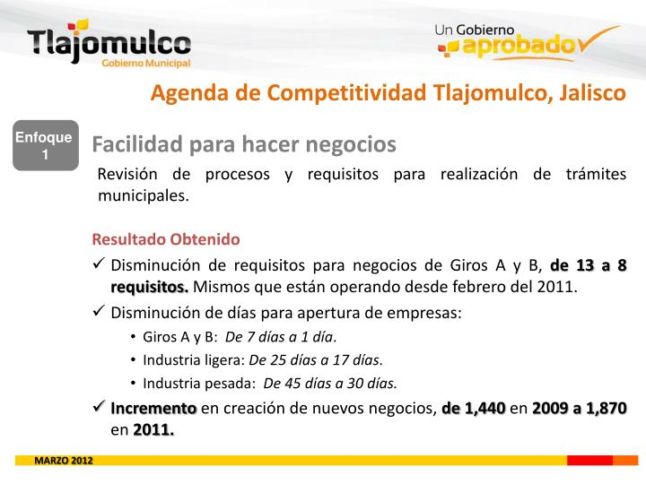 Agenda de Competitividad Tlajomulco, Jalisco