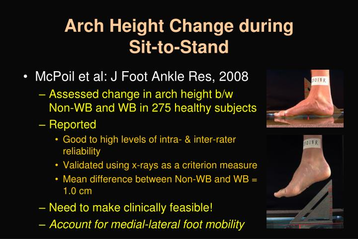 Arch Height Change during