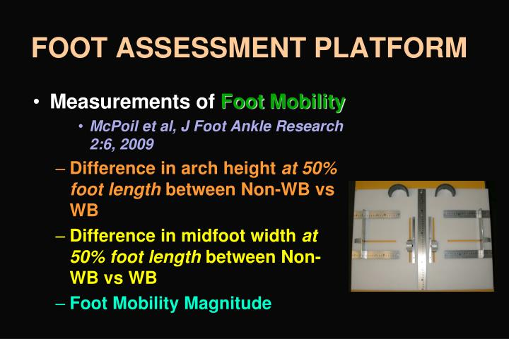 FOOT ASSESSMENT PLATFORM